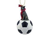Australian Cattle BlueDog Soccer Ornament