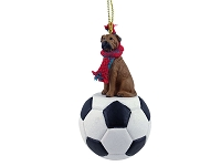 Bullmastiff Soccer Ornament