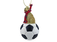 Soft Coated Wheaten Terrier Soccer Ornament
