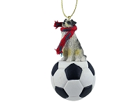Australian Shepherd Blue Soccer Ornament