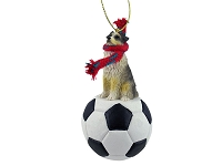 Australian Shepherd Blue w/Docked Tail Soccer Ornament