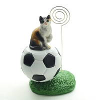 Calico Shorthaired Soccer Memo Holder