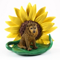 Lion Sunflower Figurine