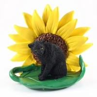 Panther Sunflower Figurine