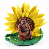 Orangutan Sunflower Figurine