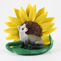 Ferret Sunflower Figurine