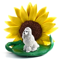 Sunflower figurine poodle white