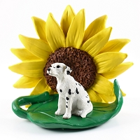 Dalmatian SUNFLOWER FIGURINE