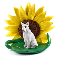 Bull Terrier SUNFLOWER FIGURINE
