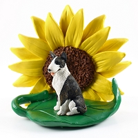 Bull Terrier Brindle SUNFLOWER FIGURINE
