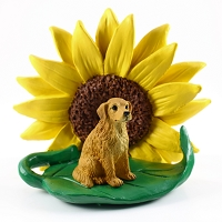 Golden Retriever SUNFLOWER FIGURINE