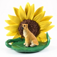 Great Dane Fawn w/Uncropped Ears SUNFLOWER FIGURINE