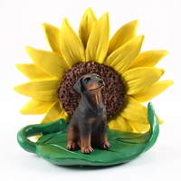 Doberman Pinscher Red w/Uncropped Ears SUNFLOWER FIGURINE