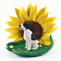 Pointer Black & White SUNFLOWER FIGURINE