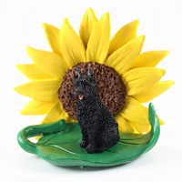 Bouvier des Flandres SUNFLOWER FIGURINE