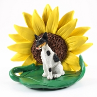 Rat Terrier SUNFLOWER FIGURINE