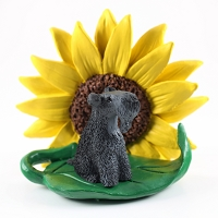 Kerry Blue Terrier SUNFLOWER FIGURINE