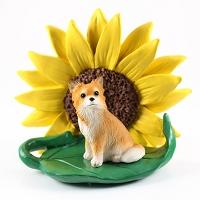 Chihuahua Longhaired SUNFLOWER FIGURINE