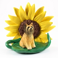 Briard SUNFLOWER FIGURINE