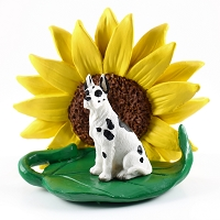 Great Dane Harlequin SUNFLOWER FIGURINE