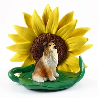 Collie Sable SUNFLOWER FIGURINE