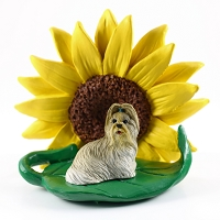 Shih Tzu Mixed SUNFLOWER FIGURINE