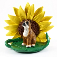 Boxer SUNFLOWER FIGURINE