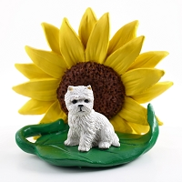 West Highland Terrier SUNFLOWER FIGURINE