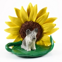 Skye Terrier SUNFLOWER FIGURINE