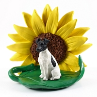Fox Terrier Black & White SUNFLOWER FIGURINE