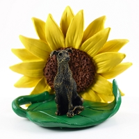 Greyhound Brindle SUNFLOWER FIGURINE