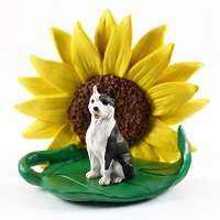 Pit Bull Terrier Brindle SUNFLOWER FIGURINE