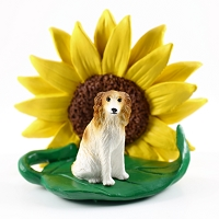 Borzoi SUNFLOWER FIGURINE