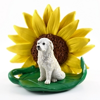 Great Pyrenees SUNFLOWER FIGURINE