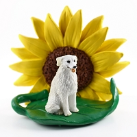 Kuvasz SUNFLOWER FIGURINE