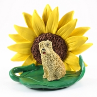 Soft Coated Wheaten Terrier SUNFLOWER FIGURINE