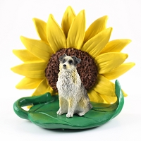 Australian Shepherd Blue w/Docked Tail SUNFLOWER FIGURINE