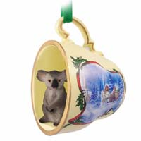 Ornaments Tea Cup Sleigh Ride Holiday Animals