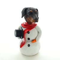 Doberman Pinscher Red w/Uncropped Ears  Jolly Holidog