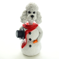 Poodle White w/Sport Cut  Jolly Holidog