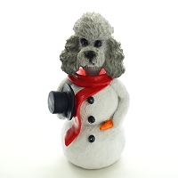 Poodle Gray w/Sport Cut  Jolly Holidog
