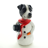 Jack Russell Terrier Black & White w/Smooth Coat  Jolly Holidog