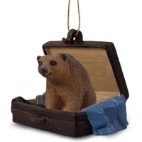 Bear Brown Traveling Companion Ornament