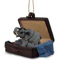 Elephant Traveling Companion Ornament