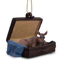 Moose Cow Traveling Companion Ornament