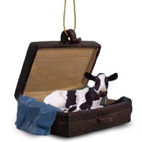 Holstein Cow Traveling Companion Ornament