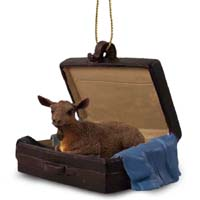 Goat Brown Traveling Companion Ornament