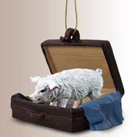 Pig Pink Traveling Companion Ornament