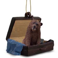 Bear Grizzly Traveling Companion Ornament