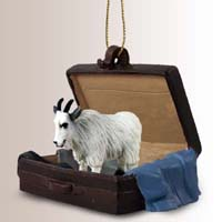 Mountain Goat Traveling Companion Ornament